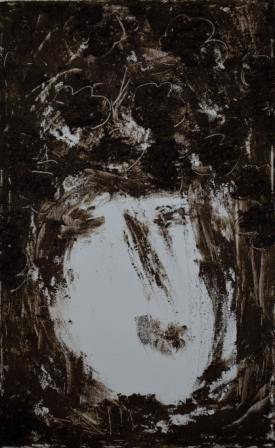 Primordial Earth-BioPortret 4, 40x25cm, bio soil, acrylic on canvas (2)_re