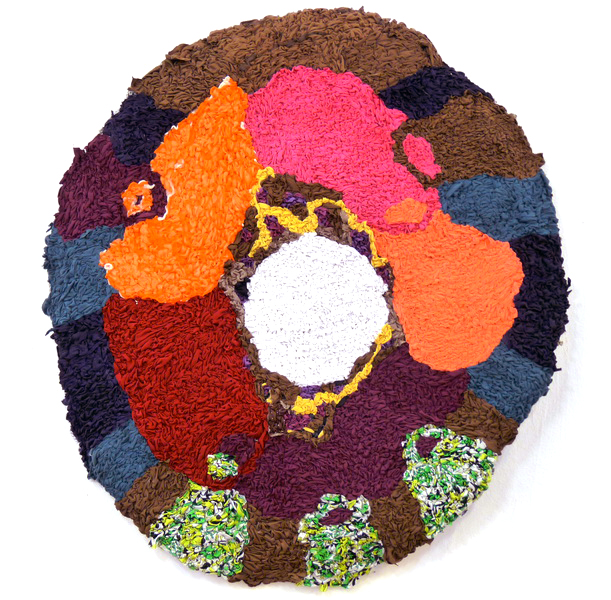 Sanda, 2013, textile on wire, diameter 90cm