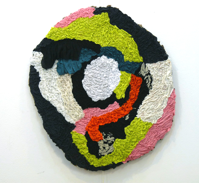 Cris, 2013, textile on wire, diameter 90cm