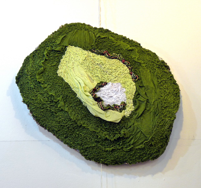 Carmen T, 2013, textile on wire, diameter 90cm