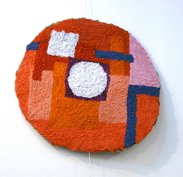 Carmen C, 2013, textile on wire, diameter 90cm