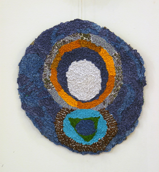 Lorena, 2013, textile on wire, diameter 90cm