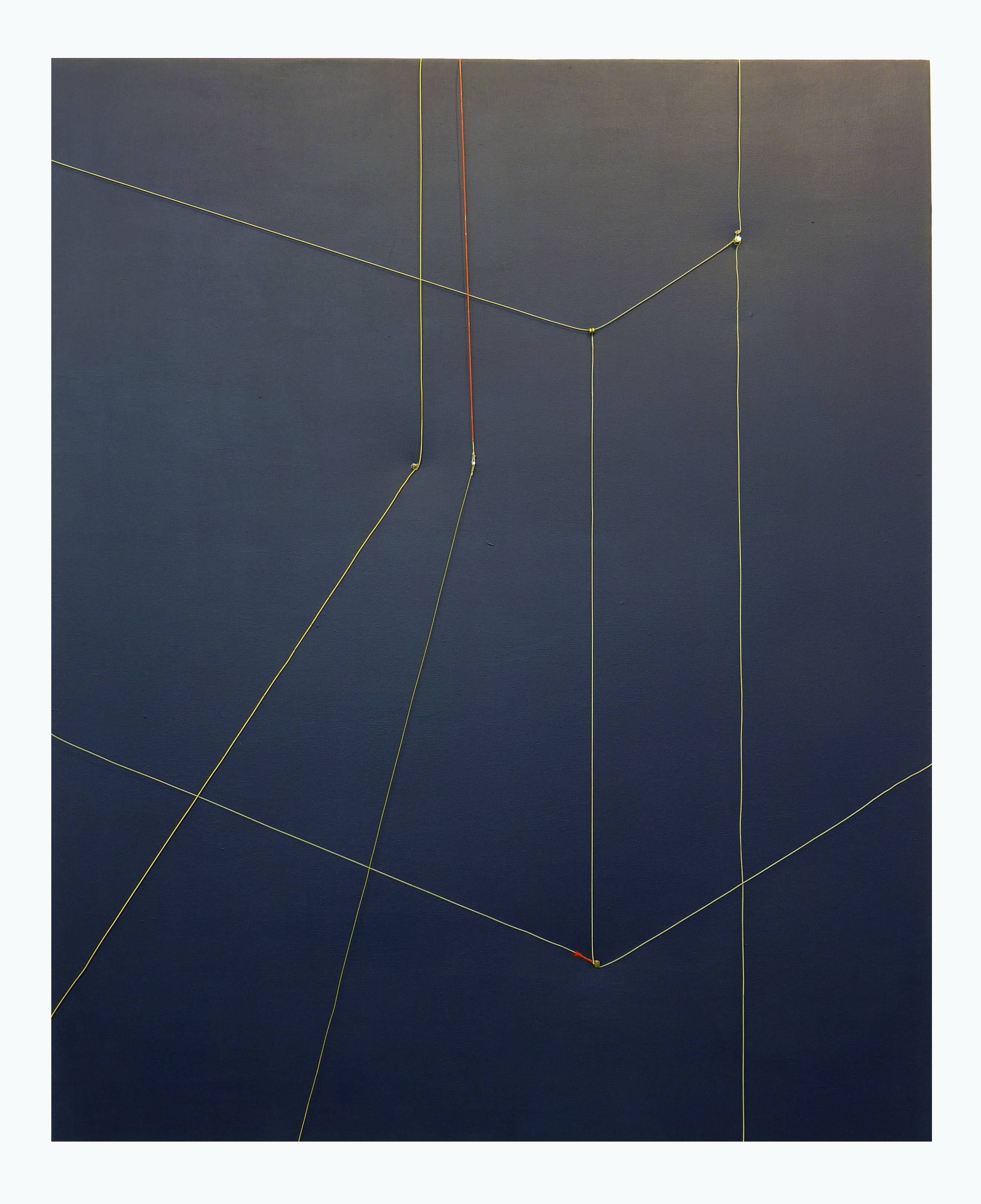 advances in the virtual space 2012 - guitar strings, acrylic on canvas_re